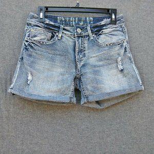 Hydraulic Lola Low Rise Cuffed Jean Shorts